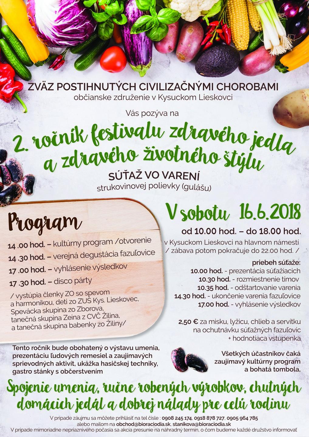 2. ročník festivalu zdravého jedla a zdravého životného štýlu