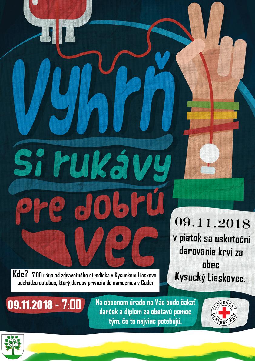 Darovanie krvi Kysucký Lieskovec 9.11.2018