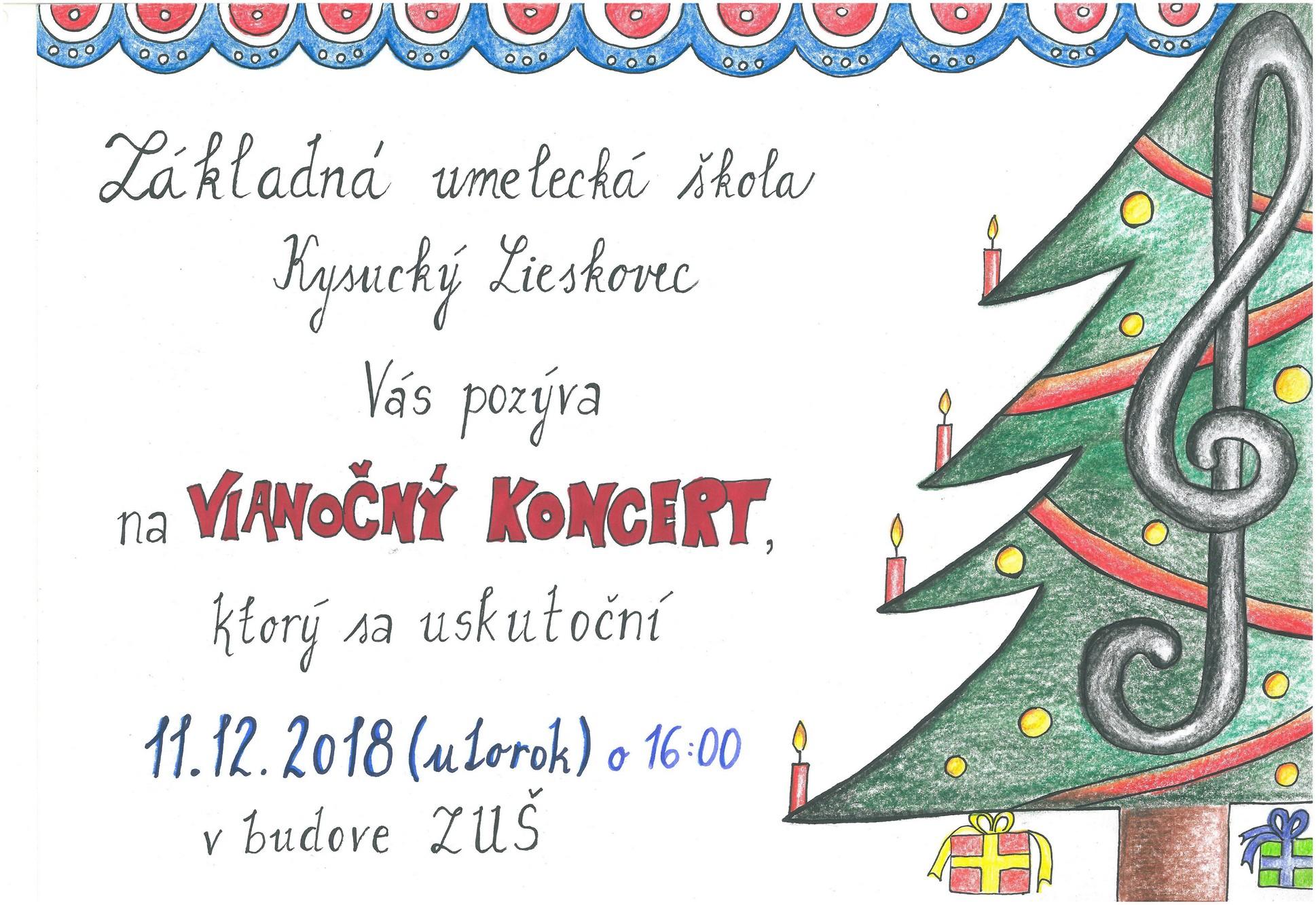 Pozývame Vás na Vianočný koncert