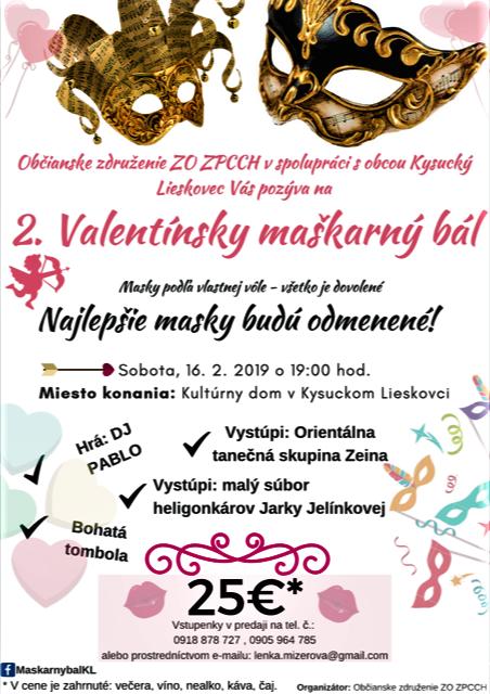 2. Valentínsky maškarný bál